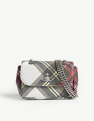 VIVIENNE WESTWOOD: New Exhibition tartan purse on chain