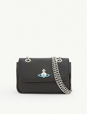 VIVIENNE WESTWOOD Emma orb logo leather mini bag