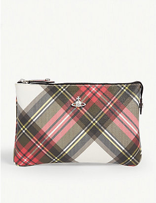 VIVIENNE WESTWOOD: New Exhibition tartan derby zip purse