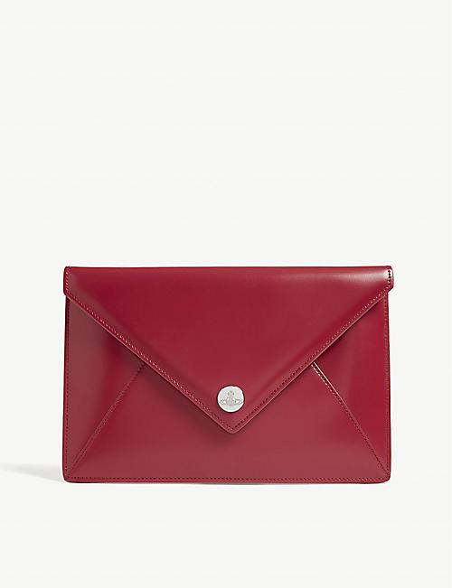 485e9a6edbb8 VIVIENNE WESTWOOD Conduit leather envelope clutch