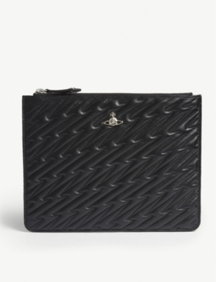 VIVIENNE WESTWOOD Coventry quilted leather pouch