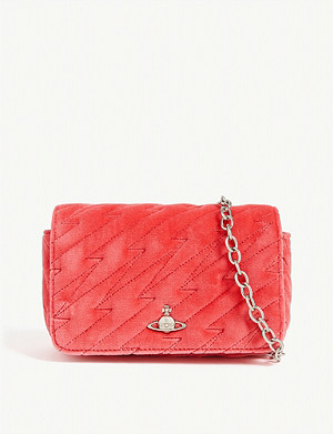 VIVIENNE WESTWOOD Coventry velvet mini crossbody bag