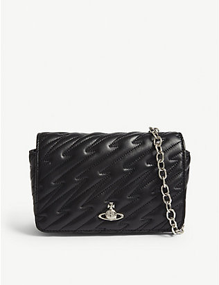 VIVIENNE WESTWOOD: Coventry quilted leather mini cross-body bag