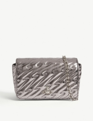 VIVIENNE WESTWOOD Coventry metallic leather mini cross-body bag