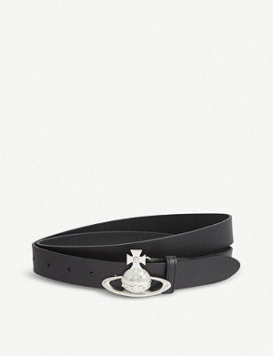 VIVIENNE WESTWOOD Saturn Orb leather belt