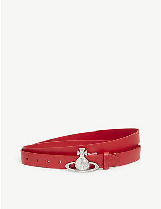 VIVIENNE WESTWOOD: Saturn Orb leather belt