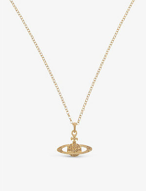 VIVIENNE WESTWOOD JEWELLERY Mini Bas Relief diamante orb necklace
