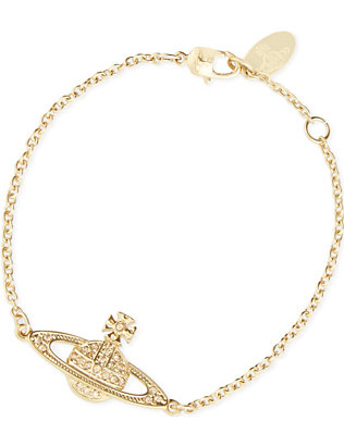 VIVIENNE WESTWOOD JEWELLERY: Mini Bas Relief Chain gold-plated bracelet