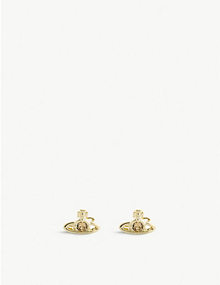 VIVIENNE WESTWOOD JEWELLERY: Nano Solitaire orb stud earrings