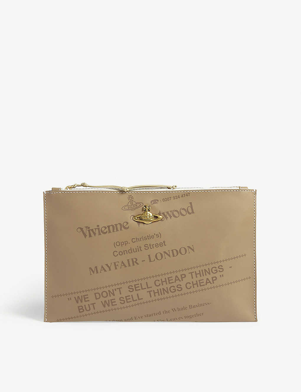 aa279bba92c VIVIENNE WESTWOOD - Anglomania Bessie leather pouch | Selfridges.com