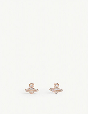 VIVIENNE WESTWOOD JEWELLERY Romina pavé orb earrings