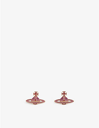 VIVIENNE WESTWOOD JEWELLERY: Kika orb crystal earrings