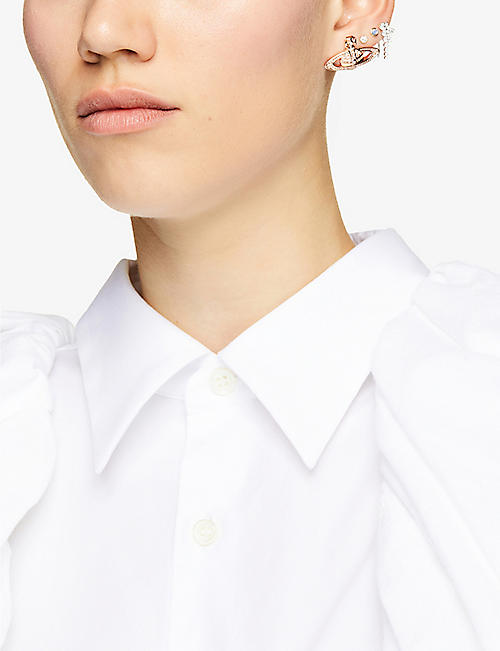 VIVIENNE WESTWOOD JEWELLERY Mini Bas Relief diamante orb earrings