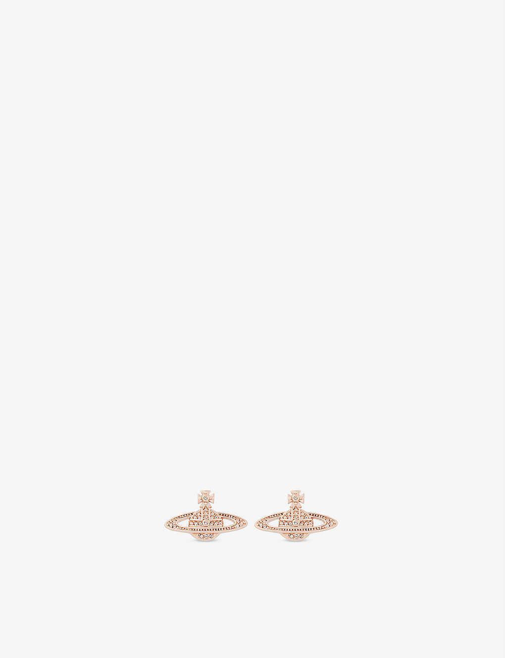966a64aa377 VIVIENNE WESTWOOD JEWELLERY - Mini Bas Relief diamante orb earrings ...
