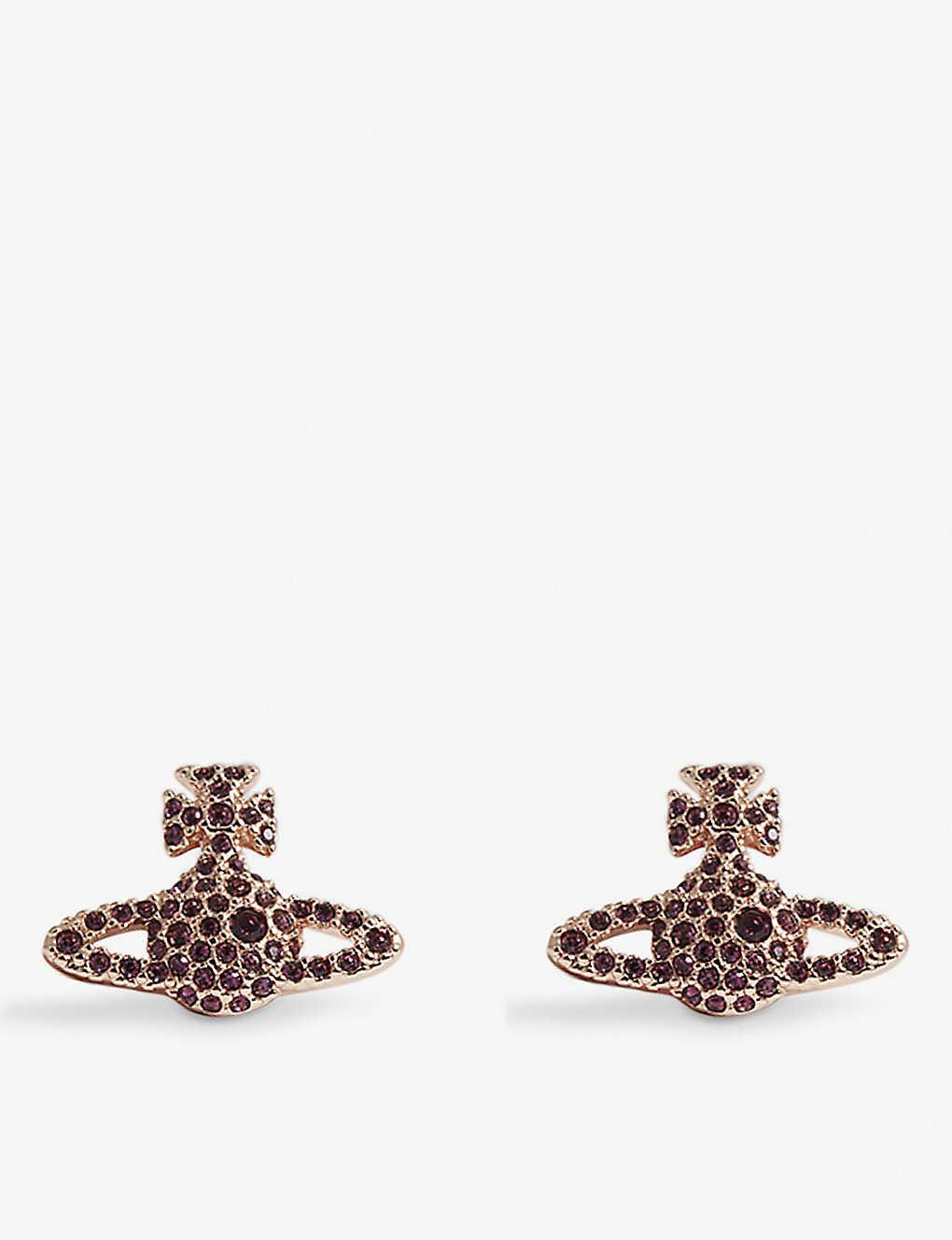 fe2c5d1b9 VIVIENNE WESTWOOD JEWELLERY Grace Bas Relief pavé orb stud earrings