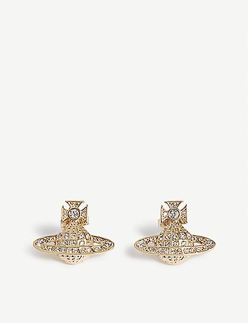 4bc35b354ee2f VIVIENNE WESTWOOD JEWELLERY Minnie Orb stud earrings