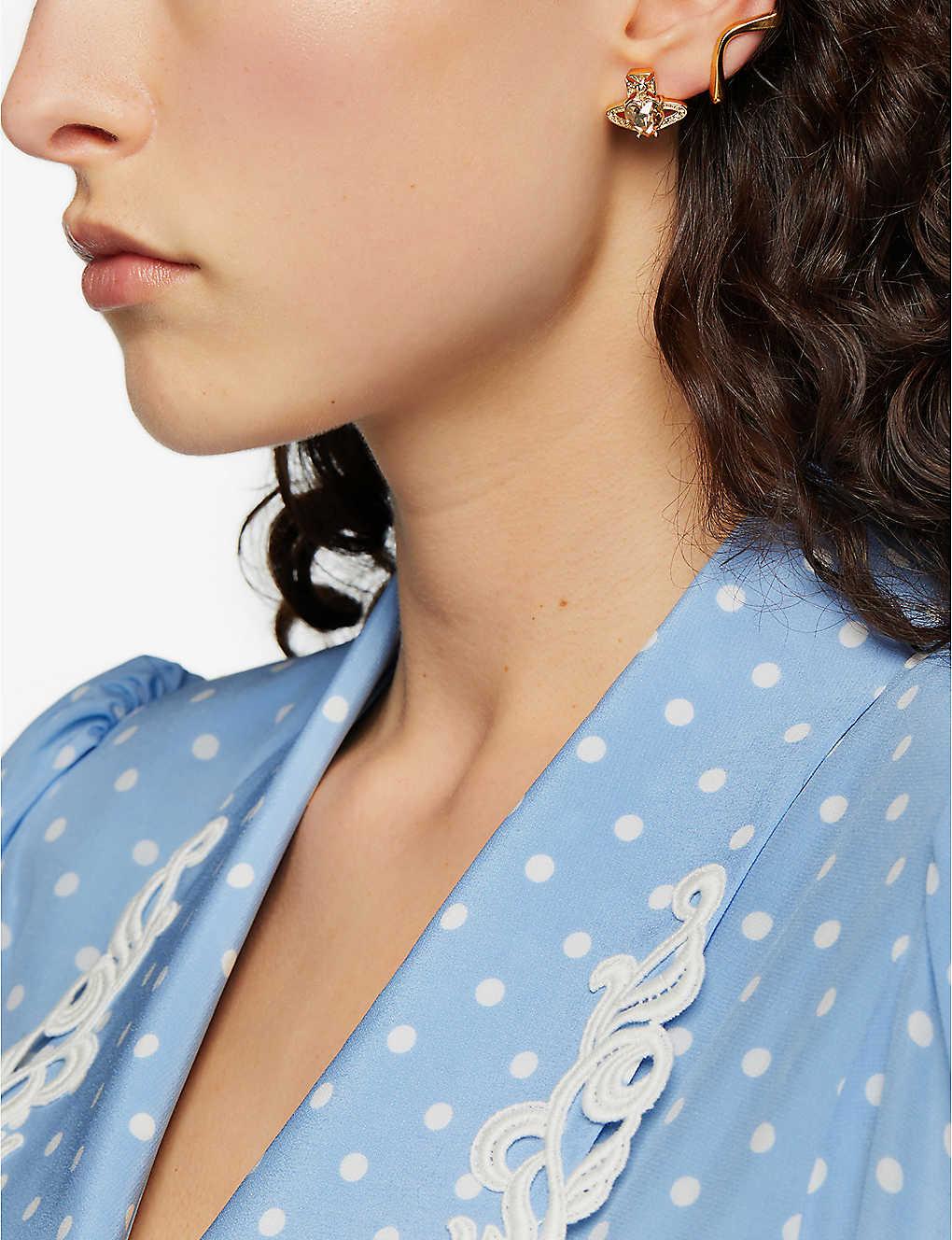 5c7e57861 VIVIENNE WESTWOOD JEWELLERY - Ariella crystal heart orb earrings ...