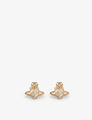 VIVIENNE WESTWOOD JEWELLERY Ariella crystal heart orb earrings