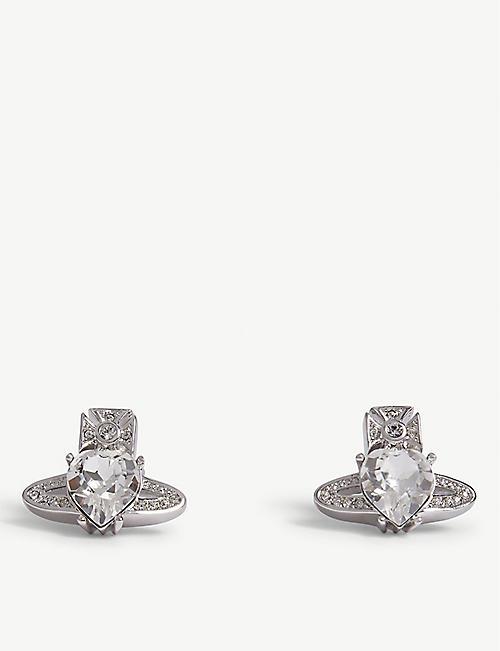 d9ff5ba75dee VIVIENNE WESTWOOD JEWELLERY Ariella crystal heart orb earrings