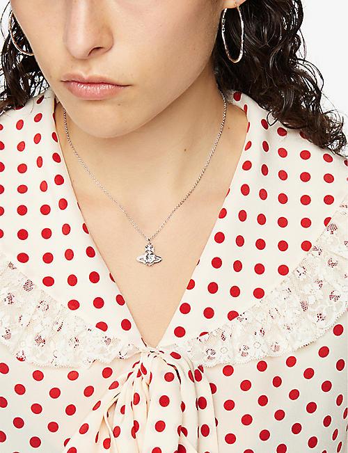 4071201d57066d VIVIENNE WESTWOOD JEWELLERY Ariella crystal heart orb pendant