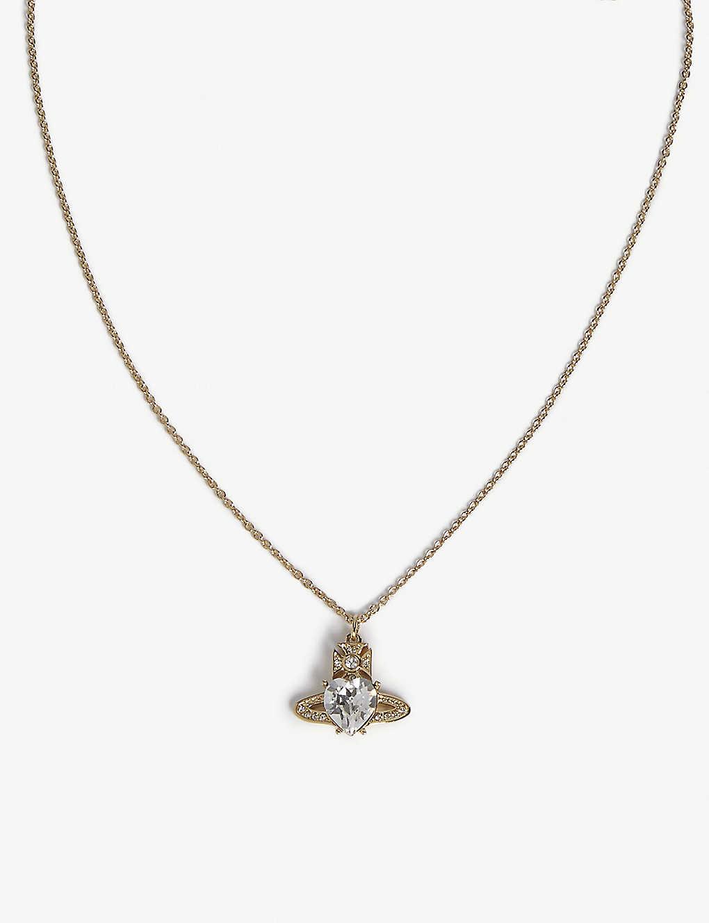 425d55876 VIVIENNE WESTWOOD JEWELLERY - Ariella crystal heart orb pendant ...