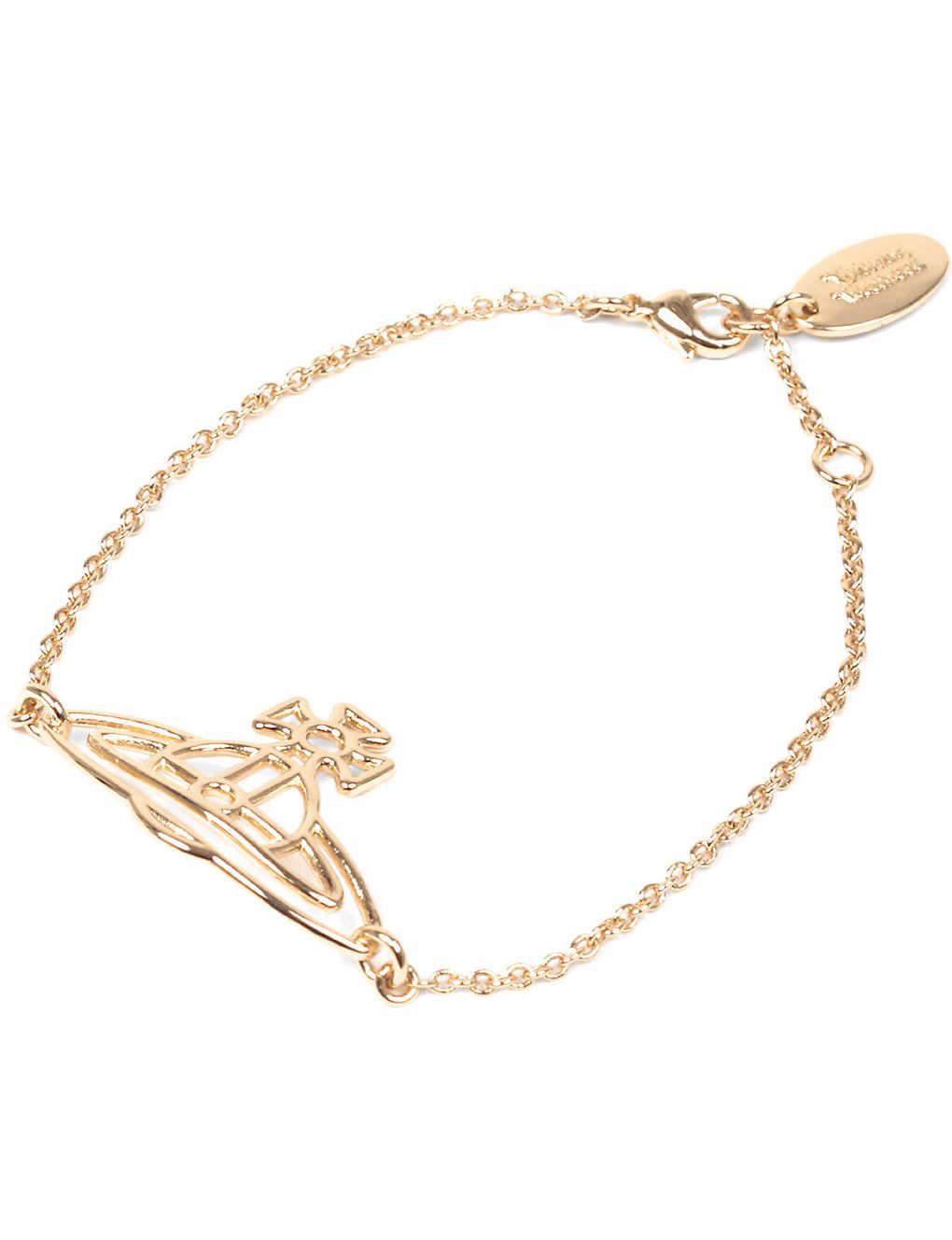 4b3187b4d0e1b2 VIVIENNE WESTWOOD JEWELLERY - Thin lines flat orb bracelet ...