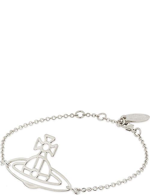 4776e14bcea372 VIVIENNE WESTWOOD JEWELLERY Thin Lines flat orb bracelet