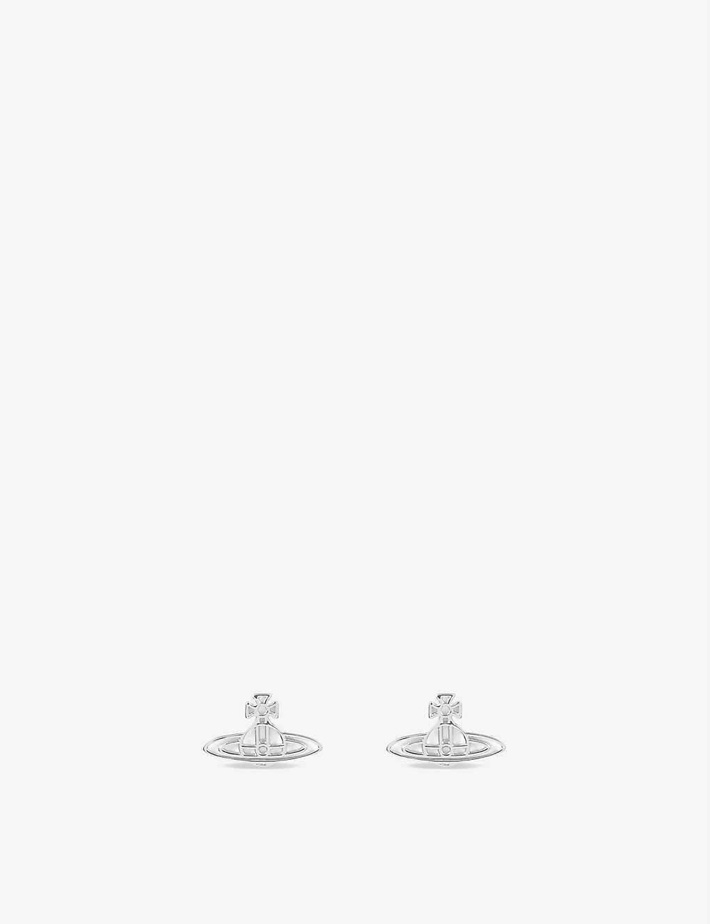 4e2f15e95 VIVIENNE WESTWOOD JEWELLERY - Thin lines flat orb stud earrings ...