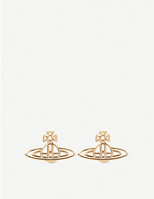 VIVIENNE WESTWOOD JEWELLERY: Thin lines flat orb stud earrings
