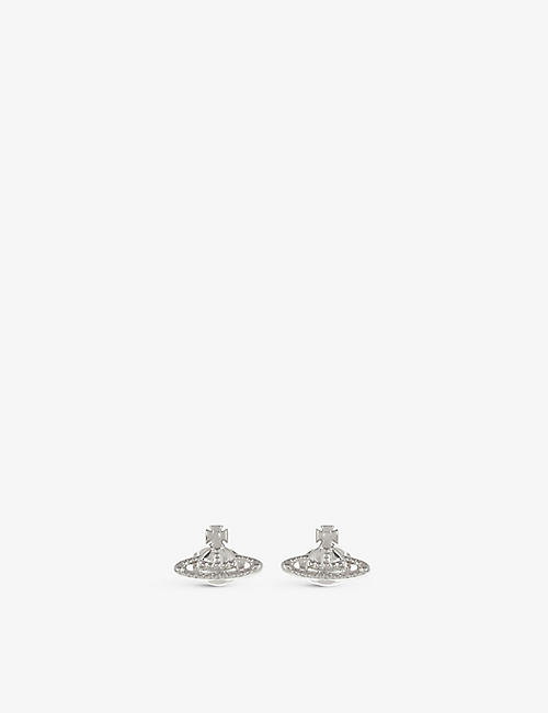 VIVIENNE WESTWOOD JEWELLERY: Farah silver-toned earrings