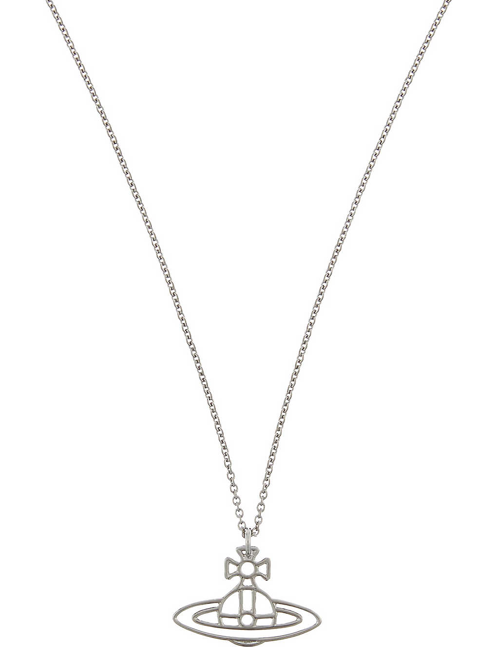 4e63c414c63067 VIVIENNE WESTWOOD JEWELLERY - Thin Lines flat orb necklace ...