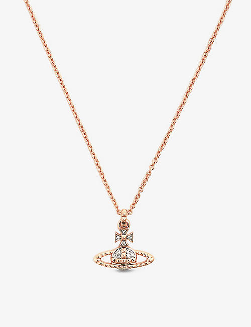 VIVIENNE WESTWOOD JEWELLERY Mayfair Large Orb rose gold-toned brass necklace