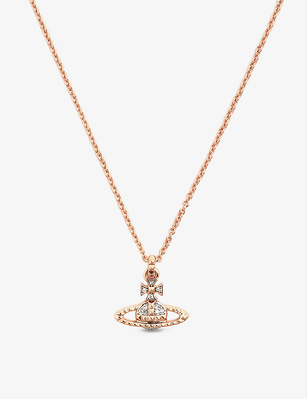 Vivienne Westwood Jewellery Mayfair Orb Small Rose Gold Toned Brass Necklace Selfridges Com