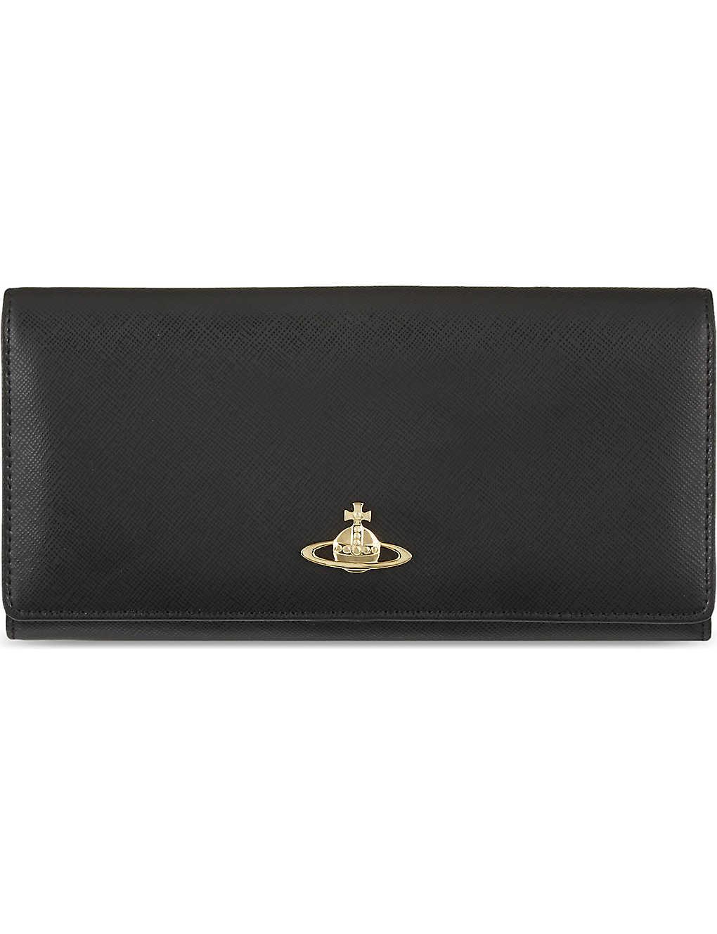 0790d406ea0 VIVIENNE WESTWOOD - Logo-embellished leather wallet | Selfridges.com