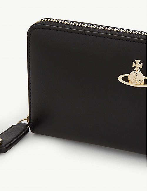 VIVIENNE WESTWOOD Orb leather continental wallet