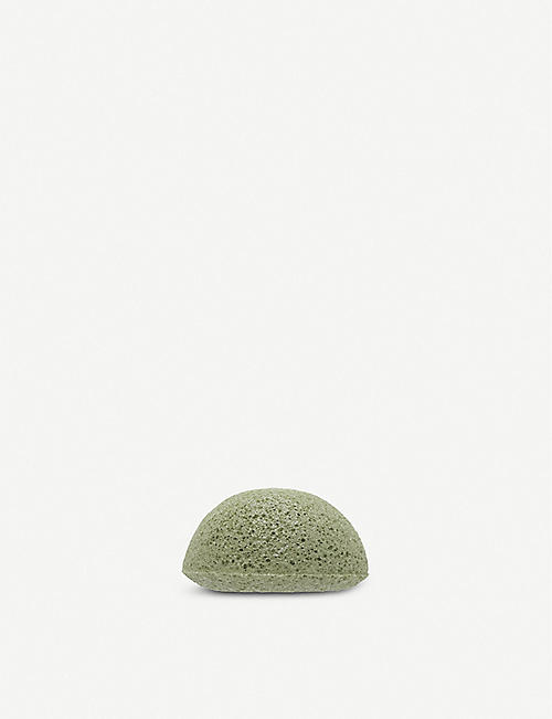 THE KONJAC SPONGE COMPANY Konjac facial sponge with mineral-rich green clay- normal to oily skin