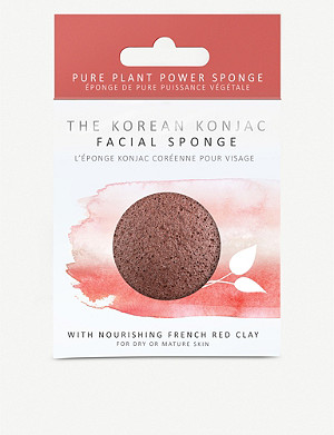 THE KONJAC SPONGE COMPANY Konjac puff sponge with nourishing mineral-rich red clay