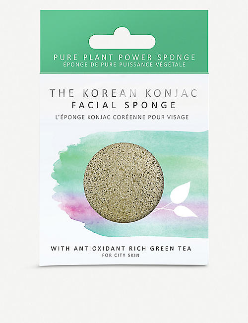 THE KONJAC SPONGE COMPANY Konjac facial sponge with Green Tea