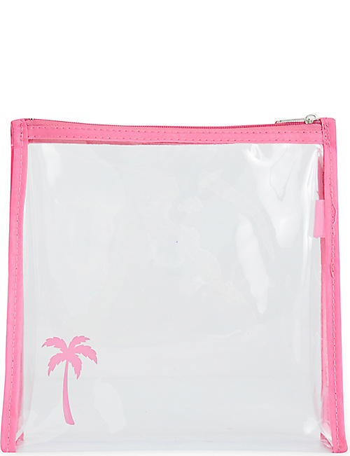 ROCKET BAGS: Palm tree clear travel bag