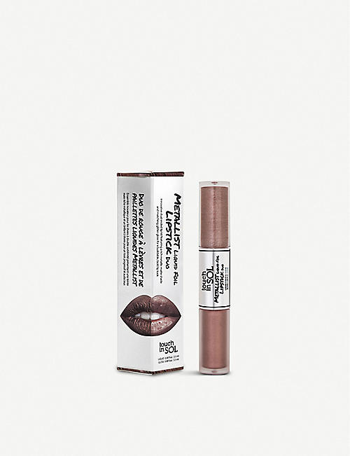 TOUCH IN SOL Metallist Liquid Foil and Glitter Lipstick Duo