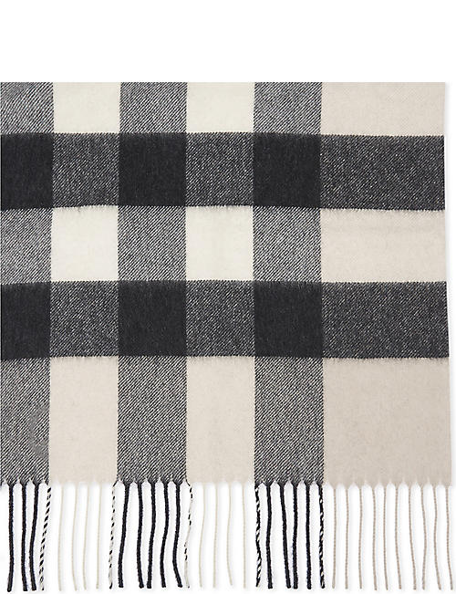 BURBERRY House check cashmere scarf