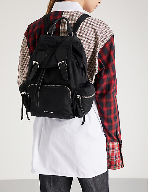 BURBERRY Logo nylon backpack