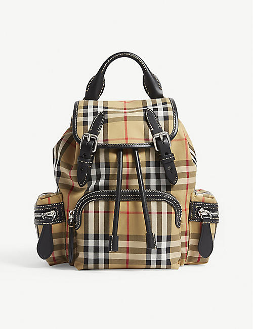 2bd64aa754a6 BURBERRY Vintage check small cross-body rucksack. Quick view Wish list
