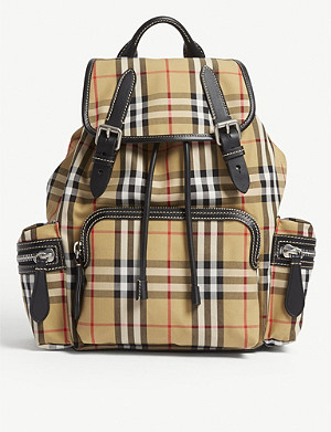BURBERRY Vintage check medium cross-body rucksack