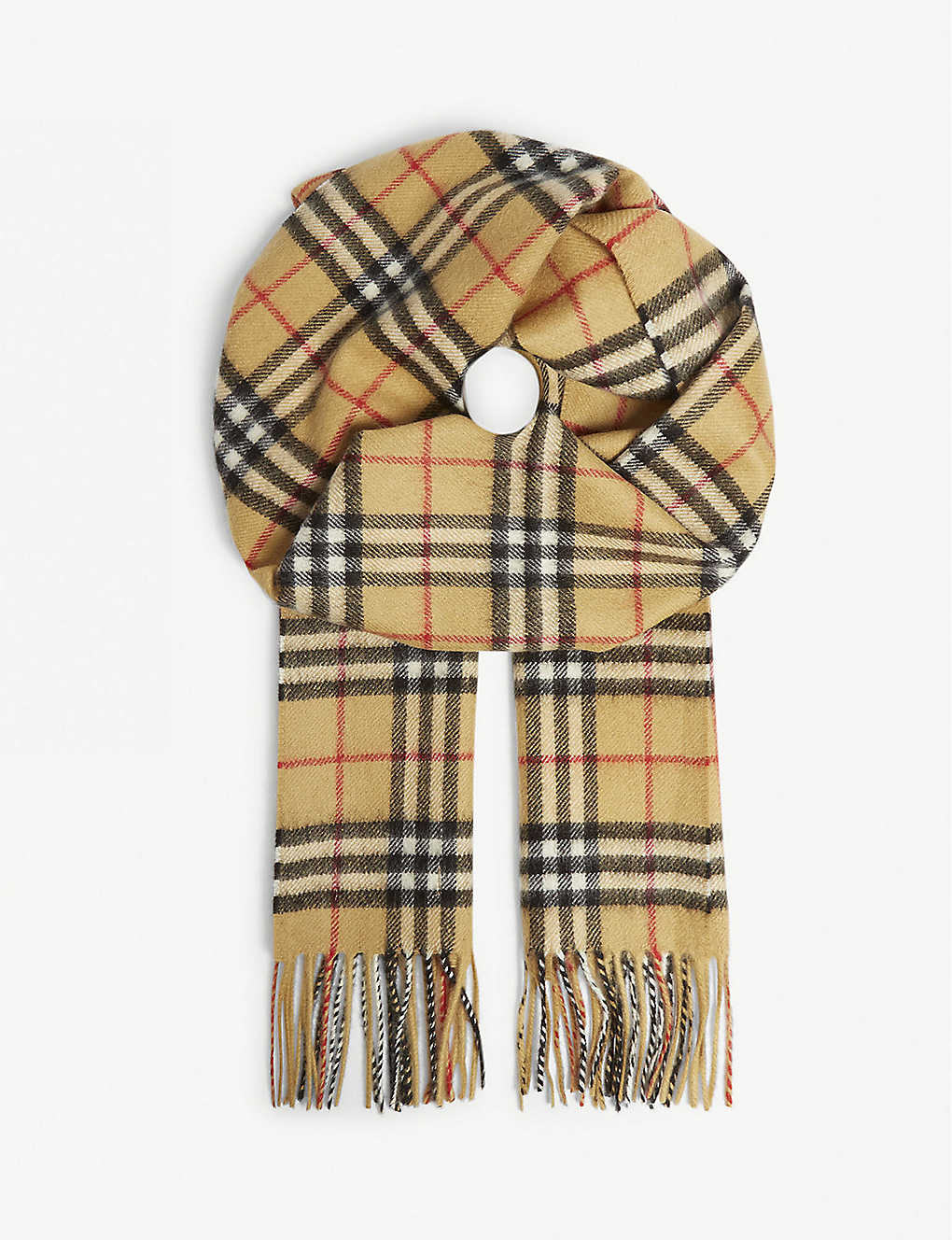 BURBERRY: Vintage check cashmere scarf
