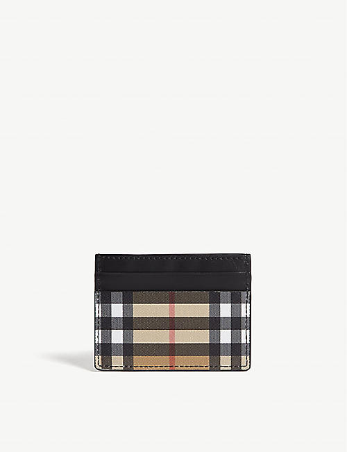 BURBERRY Sandon vintage check leather card holder