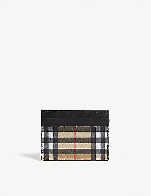7b2f520904ca BURBERRY Sandon vintage check leather card holder