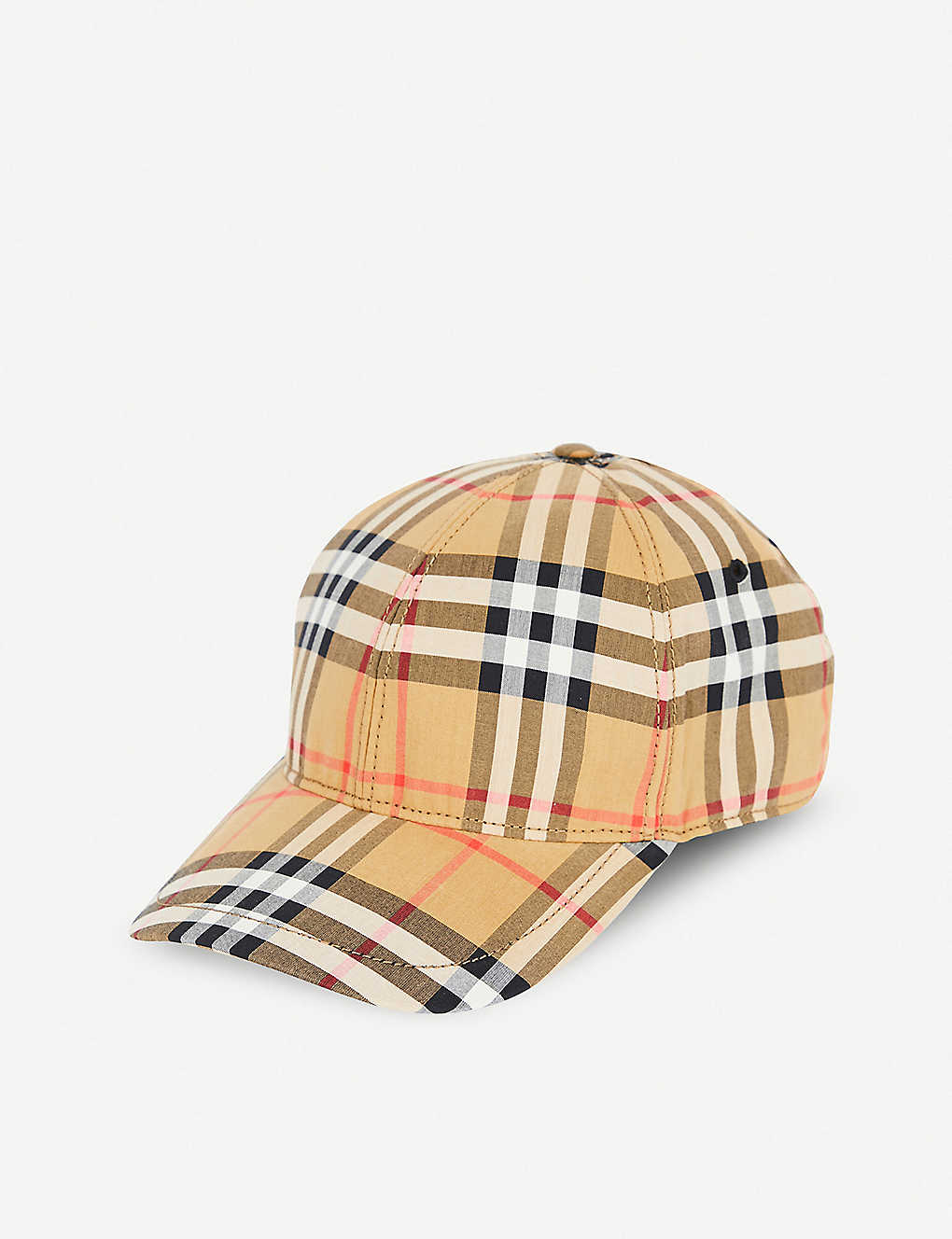 91b379eed8d ... Vintage check cotton baseball cap zoom ...