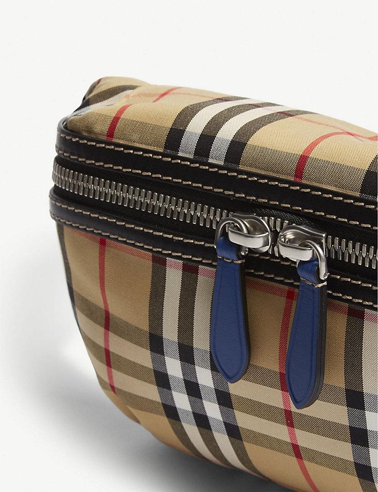 e91d7ea3818 BURBERRY - Vintage check bum bag   Selfridges.com