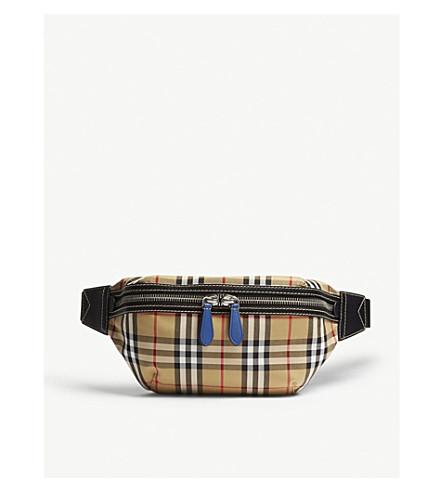 124c3679488a ... BURBERRY Vintage check bum bag (Canvas+blue. PreviousNext